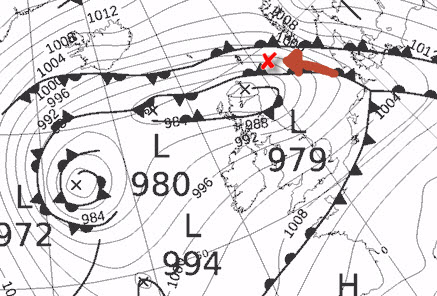 dec 23 storm force gales in north sea