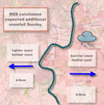 RGS snowfall for RGS catchment Sunday 20 Jan
