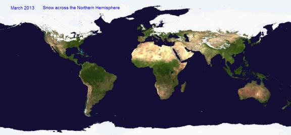 snow across northern hemisphere