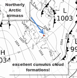 synoptic chart showing arctic airmass