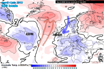 Iceland warmer than usual, UK cool
