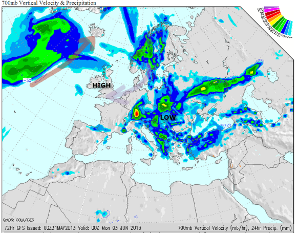 Rainfall Map Europe.Early June Rainfall Europe Reigate Grammar School Weather Station