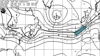 pressure pattern at 500hPa