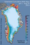 Greenland summer snowmelt