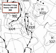 complex fronts across the UK