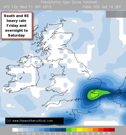 heavy rain around Fri - Sat