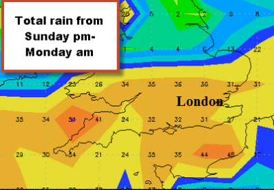 totals could be up to 30mm