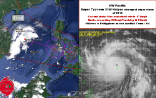 Super Typhoon Haiyan threatens Philippines then Vietnam