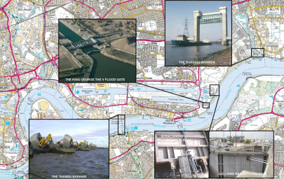 UK coastal barriers defend London