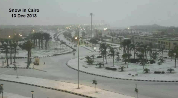 Cairo snow first for over 100 years