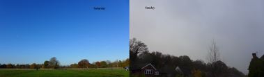 a day apart: anticyclonic sun or gloom