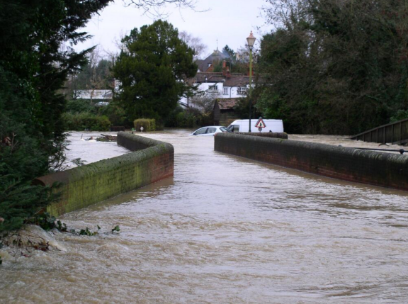 Brockham Bridge RMole thanks CEllis: highest EVER flood
