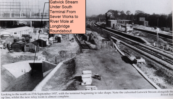 Culvert for Gatwick stream 1957