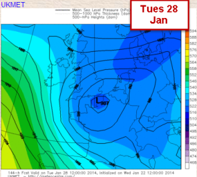 LOW sinks south dragging in cool