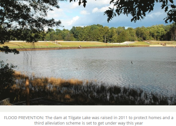 Tilgate dam raised 2.5m