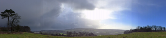cumulonimbus towers over Leith Hill Sat 8 Feb