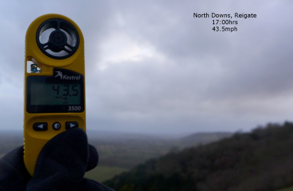 43.5mph on Colley Hill