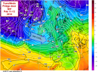 NW polar air from Canada and Greenland
