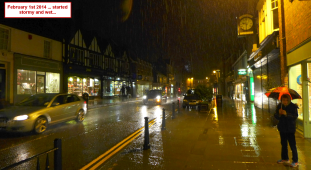 Feb in Reigate started wet...