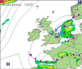 Danish LOW causes damp mid-week