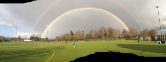 double rainbow, RGS sports fields