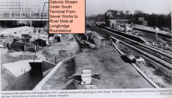 1958 Gatwick Stream culvert construction