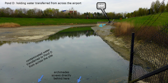 Pond D: the hub of runoff transfer at LGW