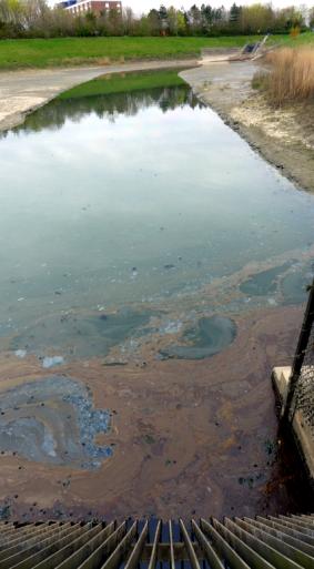 contains contaminated runoff