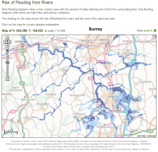 flood risk in the basin