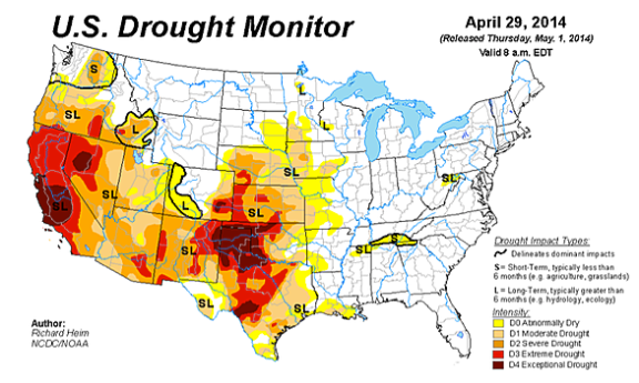 drought persists in SW USA