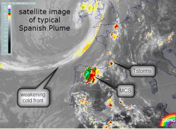 satellite pic of spanish plume