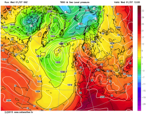 >20C upper air temps for UK