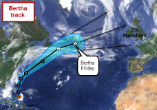 Bertha tracks uncertain still