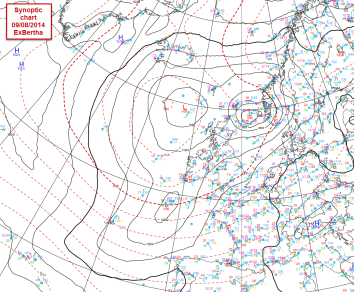 Synoptic chart for Sat
