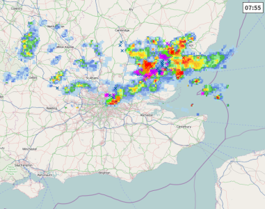 Tstorms over Essex
