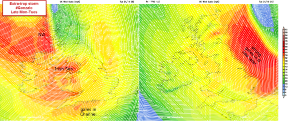 Models for Gonzalo : gales at sea