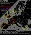 Tornado forecast by Estofex