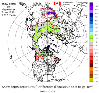 globally warm despite Siberian snow cover