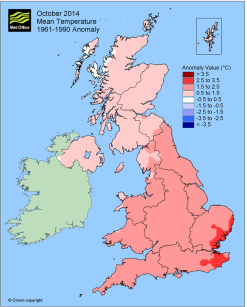 UK October temps