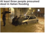 most flooding in Italy and France