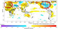 global november temperature anomalies