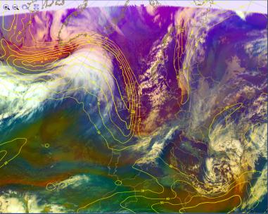 airmass: reds are polar, blue/green tropical!
