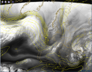 1# isotachs in m/s shows jetstream core