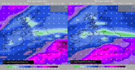 GFSP and GFS forecasts: turned out in between