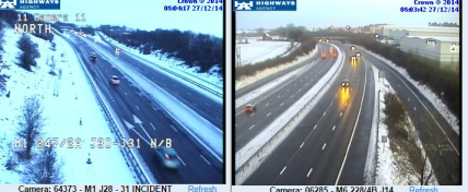 M1 and M6 snowy