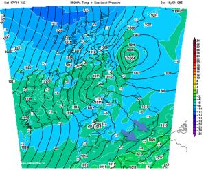 Arctic air arrives Sunday