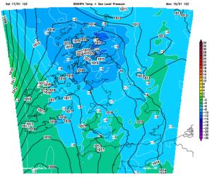 Monday Arctic air mass