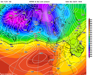 but unreliable end-of-run charts show some cold poss