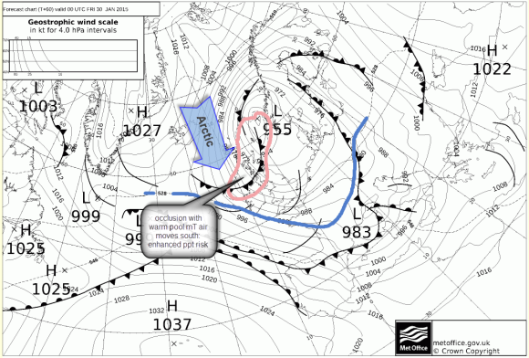 UK metoffice fax chart