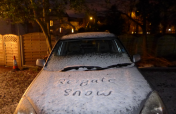 first snow since March 2013